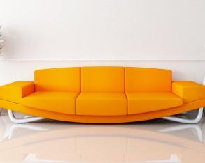 Kreativ am orangen Sofa?